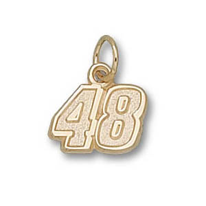 Jimmie Johnson No. 48 5/16in 14k Pendant