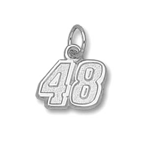 Jimmie Johnson No. 48 5/16in Sterling Silver Pendant