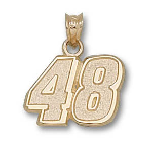 Jimmie Johnson No. 48 7/16in 14k Pendant