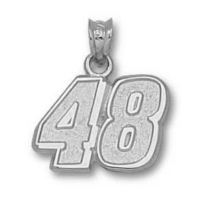 Jimmie Johnson No. 48 7/16in Sterling Silver Pendant