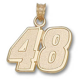 Jimmie Johnson No. 48 9/16in 14k Pendant