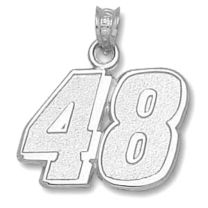 Jimmie Johnson No. 48 9/16in Sterling Silver Pendant