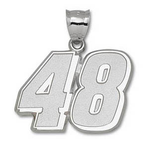 Jimmie Johnson No. 48 1 1/4in Sterling Silver Pendant