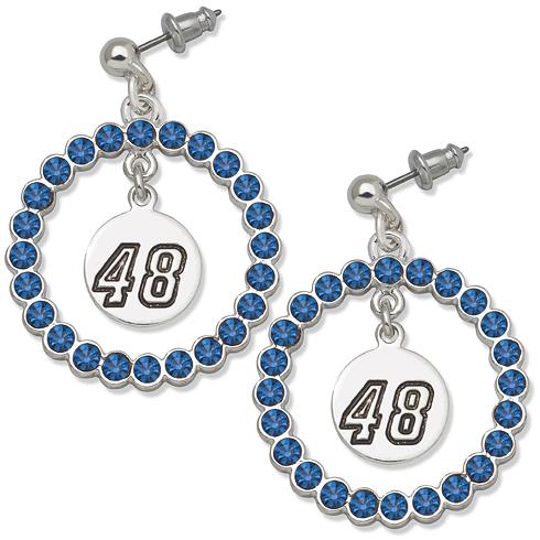 Jimmie Johnson Spirit Crystal Logo Earrings