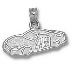 Jimmie Johnson Car 3/8in Sterling Silver Pendant