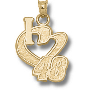 I Love No. 48 3/4in 10k Pendant