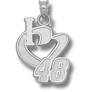 I Love No. 48 3/4in Sterling Silver Pendant