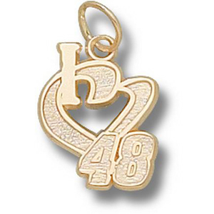 I Love No. 48 1/2in 14k Pendant