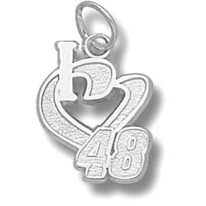 I Love No. 48 1/2in Sterling Silver Pendant