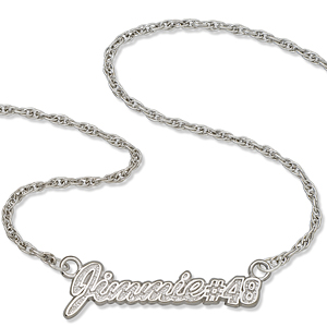 Jimmie No. 48 18in Sterling Silver Script Necklace