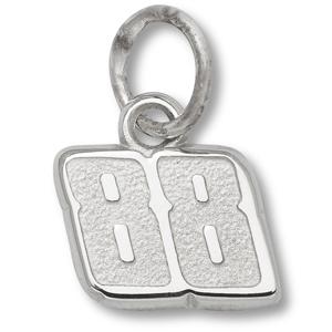 Sterling Silver 1/4in Dale Earnhardt Jr. #88 Charm