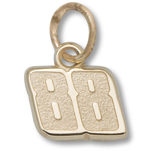 10kt Yellow Gold 1/4in Dale Earnhardt Jr. #88 Charm
