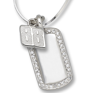 Sterling Silver 88 Dale Earnhardt Jr. Mini Dog Tag Necklace