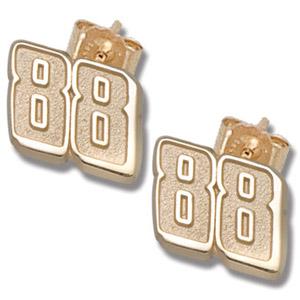 14kt Yellow Gold 3/8in Dale Earnhardt Jr. #88 Post Earrings