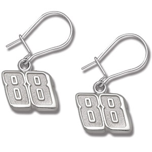 Sterling Silver Dale Earnhardt Jr. #88 Dangle Earrings