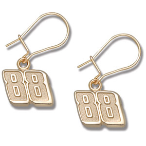 10kt Yellow Gold Dale Earnhardt Jr. #88 Dangle Earrings