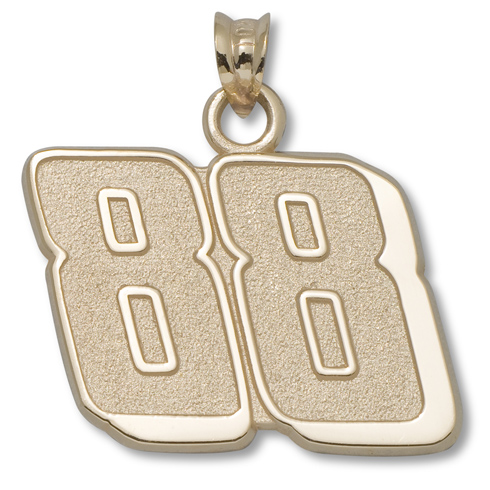 14kt Yellow Gold 5/8in Dale Earnhardt Jr. #88 Pendant