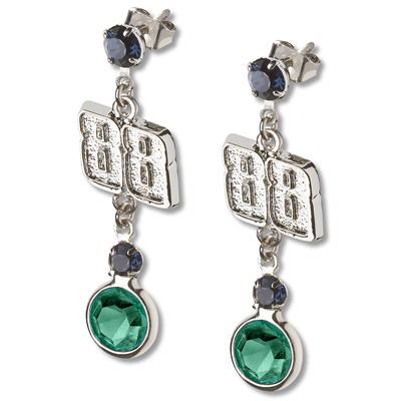Dale Earnhardt Jr. Crystal Logo Earrings