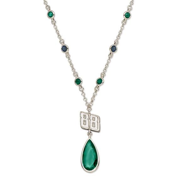 Dale Earnhardt Jr. Crystal Logo Necklace