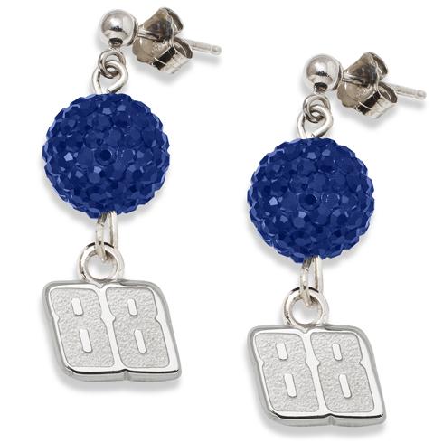 Sterling Silver Dale Earnhardt Jr. Crystal Ovation Earrings