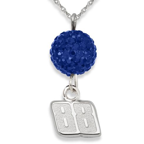 Sterling Silver Dale Earnhardt Jr. Crystal Ovation Necklace
