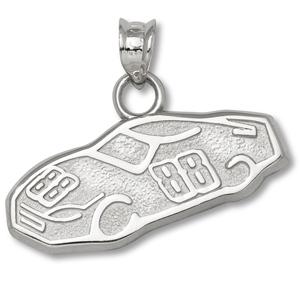 Sterling Silver 3/8in Dale Earnhardt Jr. 88 Car Pendant