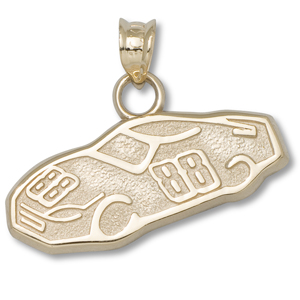 14kt Yellow Gold 3/8in Dale Earnhardt Jr. 88 Car Pendant