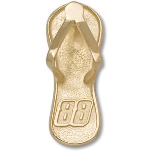 10kt Yellow Gold 1in Dale Earnhardt Jr. #88 Flip Flop Pendant