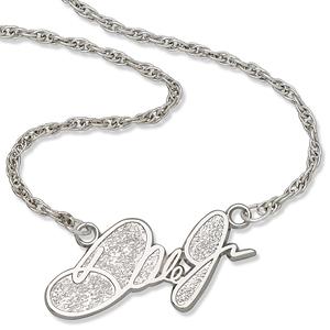 Dale Jr. 18in Sterling Silver Script Necklace