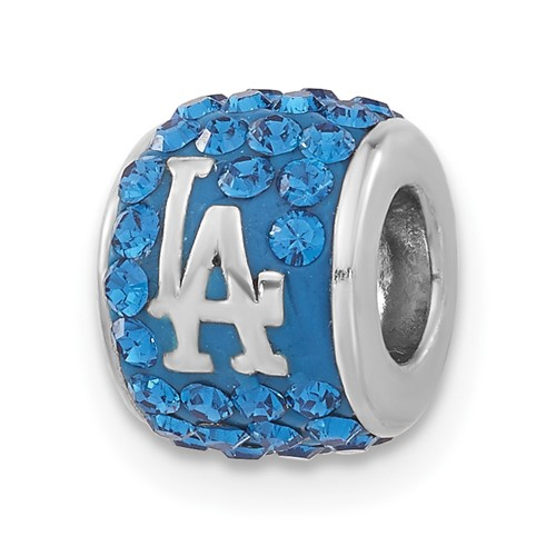 Sterling Silver Los Angeles Dodgers Premier Bead Charm