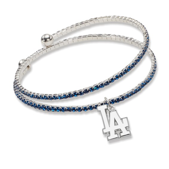 Los Angeles Dodgers Amped Logo Crystal Bracelet
