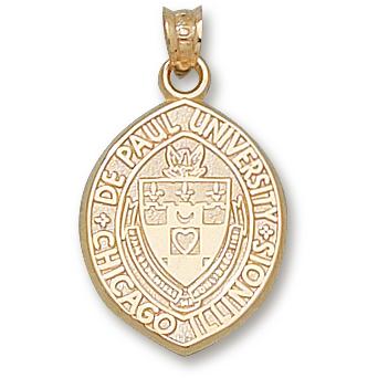 10kt Yellow Gold 3/4in DePaul University Pendant