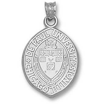 Sterling Silver 3/4in DePaul University Pendant