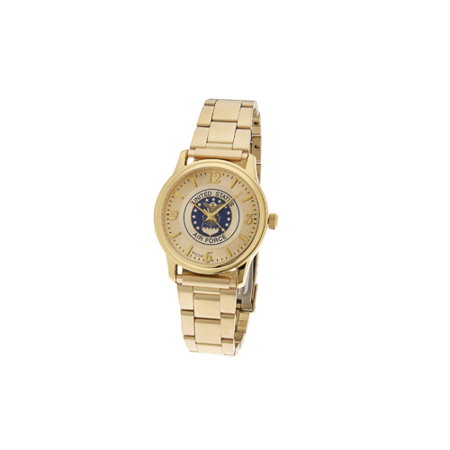 38mm Gold-tone Bulova United States Air Force Watch