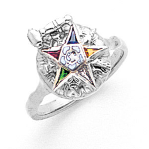 Sterling Silver Eastern Star Past Matron Ring