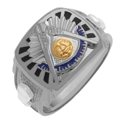Sterling Silver Masonic Past Master Ring
