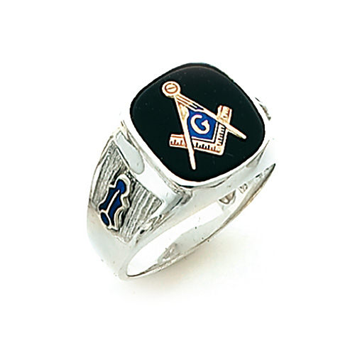 Sterling Silver Blue Lodge Ring with Oblong Stone