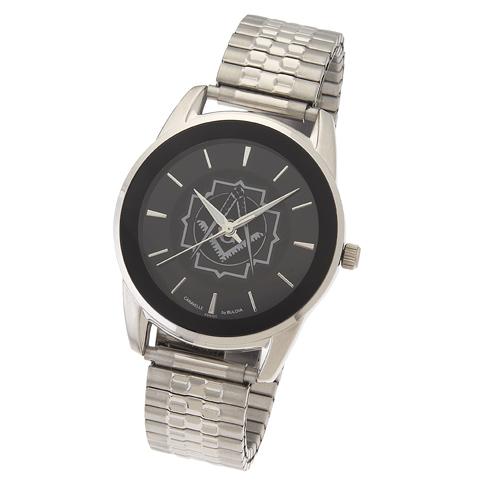 42mm Black Bulova Masonic Watch with Expansion Band