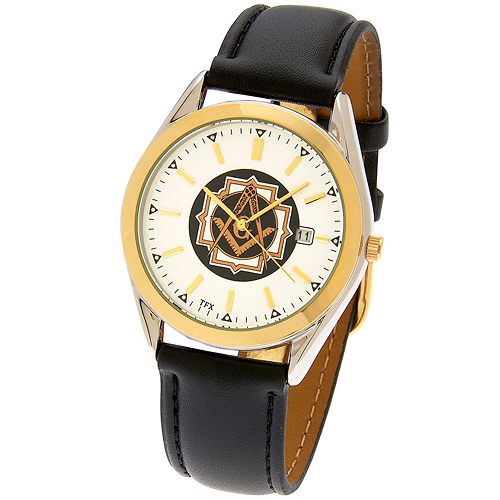 38mm TFX by Bulova Masonic Watch with Leather Strap