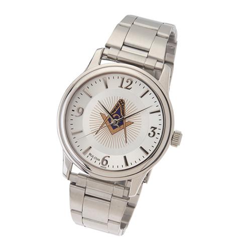 Bulova Masonic Watch with Steel Bracelet