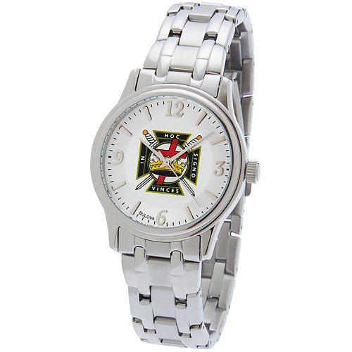 38mm Bulova Knights Templar Watch with Sport Steel Bracelet