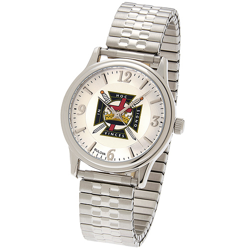 38mm Bulova Knights Templar Watch with Expansion Band