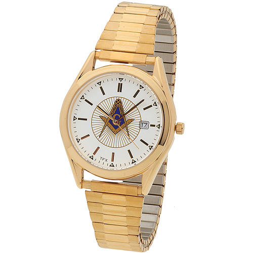 Bulova Masonic Watch with Gold Tone Bracelet