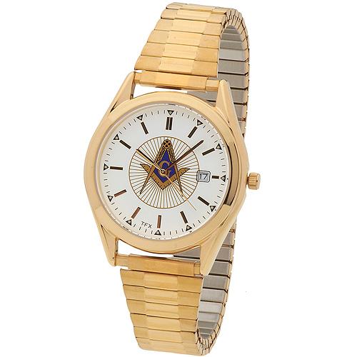 Bulova Masonic Watch with Gold Tone Bracelet