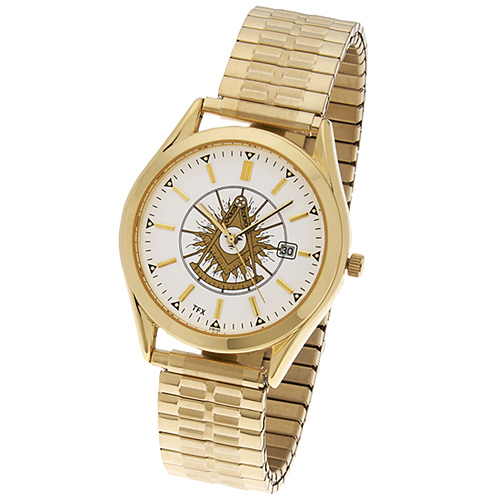 Gold-tone Past Master Mason Watch TFX by Bulova