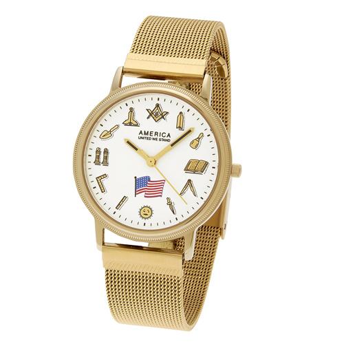 Masonic Watch Mesh Bracelet - Swiss ETA Movement