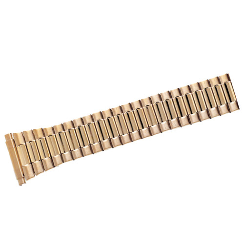 Gold Tone Expansion Watch Band Stainless Steel