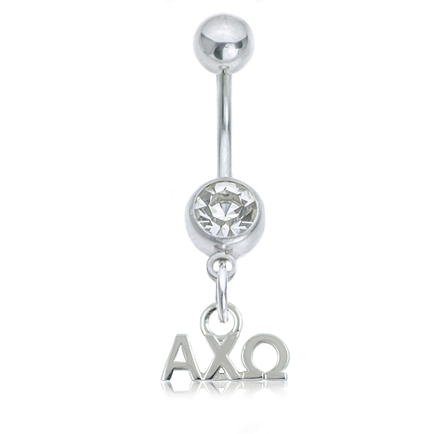 Alpha Chi Omega Button Ring