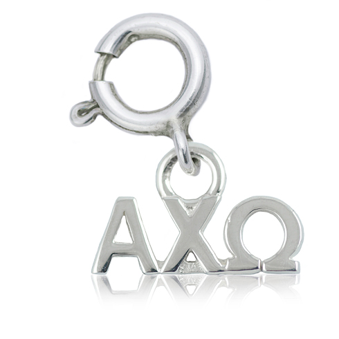 Sterling Silver Alpha Chi Omega Charm