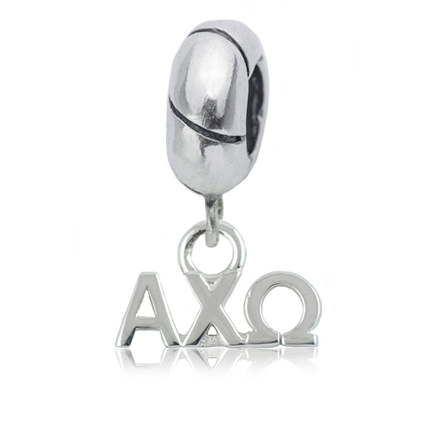 Sterling Silver Alpha Chi Omega Charm Bead